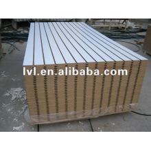 Рифленый МДФ 1220 * 2440 мм с меламиновой бумагой