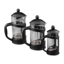 Cafetière extérieure en plastique noir, presse à café en borosilicate, presse française