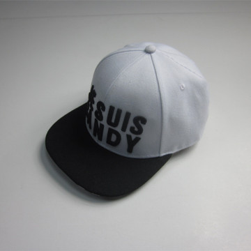 3D Embroidery And Stripe Print Hip Hop Cap