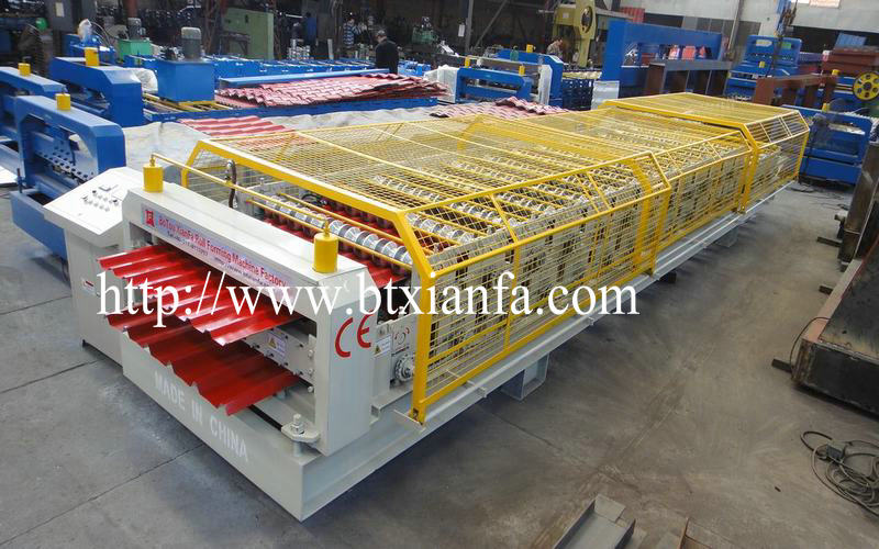 Double Deck Trapezoid Steel Plate Making Machine