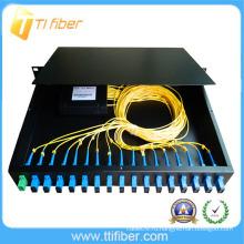 16-портовая коммутационная панель sc / upc для монтажа в стойку для PLC Splitter