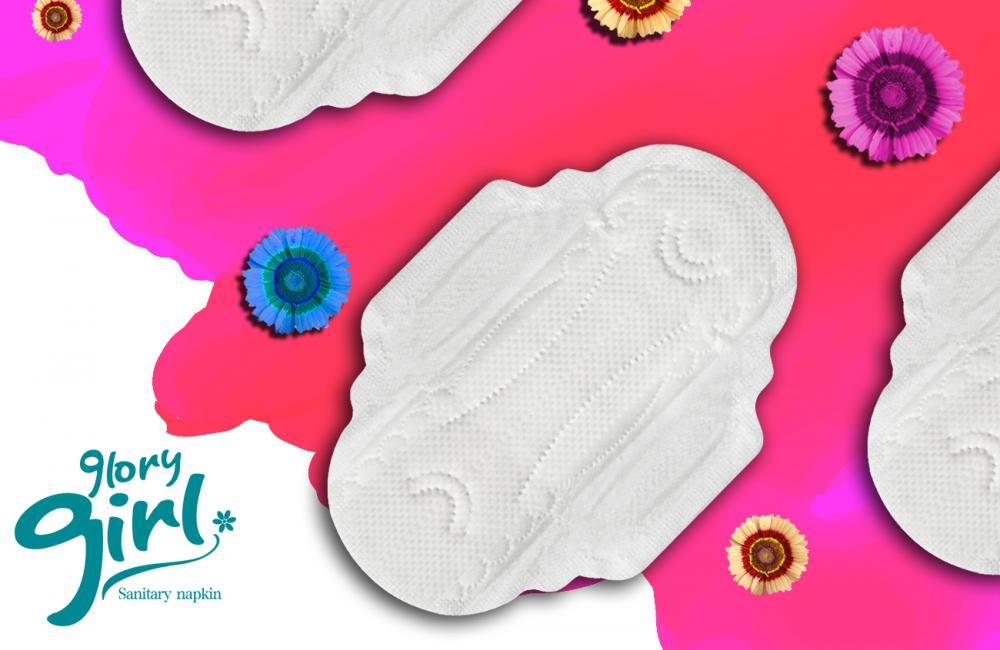 Super soft non-woven fabric sanitary napkins