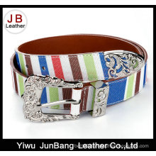 New Design Contrast Color Woman Webbing Belt
