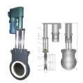 Electrique - Vanne à guillotine céramique mince hydraulique