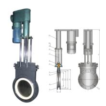 Válvula de compuerta de cerámica delgada hidráulica eléctrica