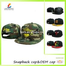 Nuevos casquillos ajustables unisex lisos unisex del salto de la cadera de los sombreros del béisbol del casquillo del snapback del unisex