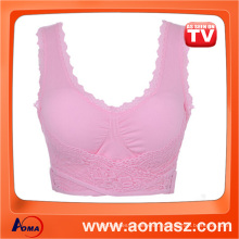 Sex Women Sport Bra Front Closure Bra Genie Bra With Lace