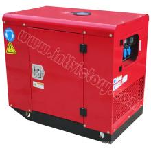 10kVA Бесшумный бензиновый генератор с двумя цилиндрами с сертификацией CE / Soncap / Ciq