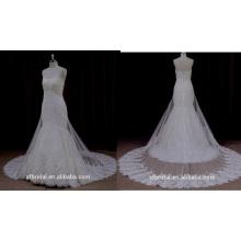 Ns001 haute qualité couche robe de mariée en dentelle tulle 2016