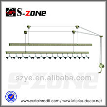 SZ12-10 Brass good cranking balcony hanging clothes lifting hanger rack