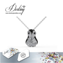 Cristal bijoux destin du pingouin Swarovski pendentif & collier