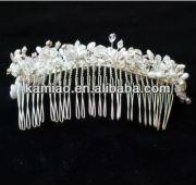 handmade 2015 pearl hair comb bride and groom wedding accessories bride