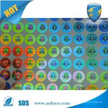 Hologramas de segurança personalizados; Etiqueta holograma de segurança