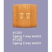 シリーズ スイッチ木製色 2 ギャング
