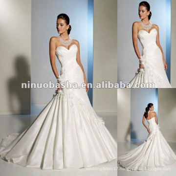 Marseille Taffeta Opulently Draped Throughout the Bodice and Highlighting the Sweetheart Neckline Wedding Dress