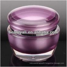 Mushroom acrylic cream container