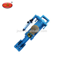 Hand-held and air-leg type pneumatic rock hammer drill
