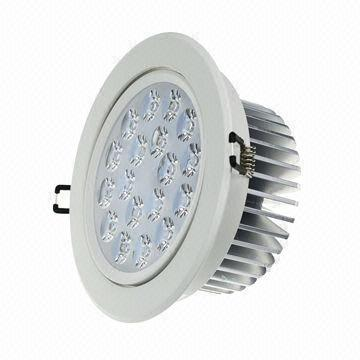 High-power 18W LED Ceiling Light with Samsung Chip, AC 85-260V, 3,000-6,500K CCT