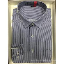 Camisa de negócios tingida com fios de alta qualidade