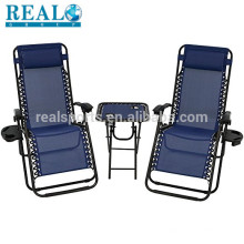 Beach Chair With Footrest Zero Gravity Fabric Folding Beach Chair