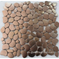 Rose golden color stainless steel 8mm mosaic