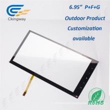 "Drift Free 6.95"" Pet Film Glass Interactive Touch Panel"