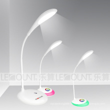 Touch-Sensitive lâmpada de mesa recarregável LED com cores vivas (LTB716)
