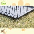 Расширенная металлическая черная собачья клетка для дома