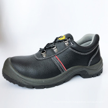 Cheap Wholesale High Quality black steel safety shoes with wide steel toe cap safety boots work shoes