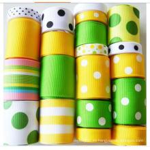 Venda al por mayor la cinta tejida Navidad barata de calidad superior del Grosgrain de la cara para la cinta hecha a mano de DIY