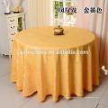 100% poliéster rodada champanhe casamento toalha de mesa usado para venda