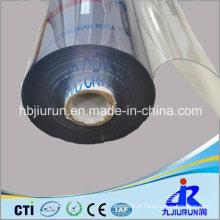 Folha plástica macia do PVC transparente nos Rolls