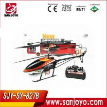 827B-3.5CH 3.5 CH Metal Controle Remoto RC Helicóptero com câmera e giroscópio
