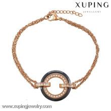 74266-joyería hecha a mano materiales acero cerámica rueda forma pulseras
