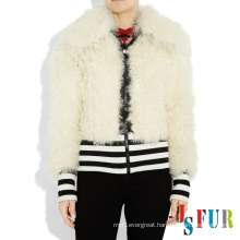 2014 special white style in this season and good quality sheep fur natural fur clothing