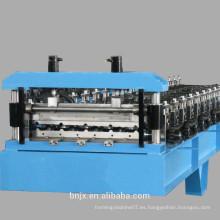 Nuevo producto de color Hoja de acero Hoja de metal de azulejos de teja Roll formando línea de máquina