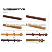 top quality durable curtain rod wood for home