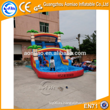 Diapositiva inflable de la escalera del pvc hermoso del diseño, diapositivas inflables del agua para la venta Australia