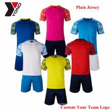 2017 mais novo thai qualidade futebol jersey atacado futebol juvenil jersey uniforme de futebol conjunto