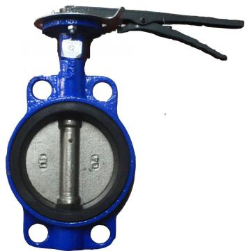 carbon steel gear and handle operated butterfly valve