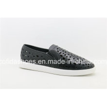 Stylish Flat Leather Lady Shoes with Cool Designs