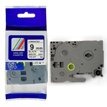 Compatibel voor broer P-touch TZ label tape zwart op wit 9mm TZ-221