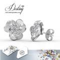 Schicksal Schmuck Kristalle von Swarovski einfache Blume Ohrringe