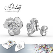 Destin bijoux cristaux de Swarovski Simple boucles d'oreilles