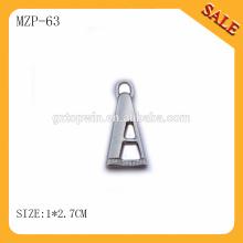 MZP63 de alta calidad personalizada de metal de cremallera para el precio barato bolso Y diente metal cremallera