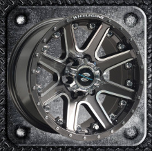 SUV heavy wheel with rivets and big cap