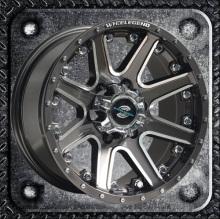 SUV berat roda rivet dengan cap besar