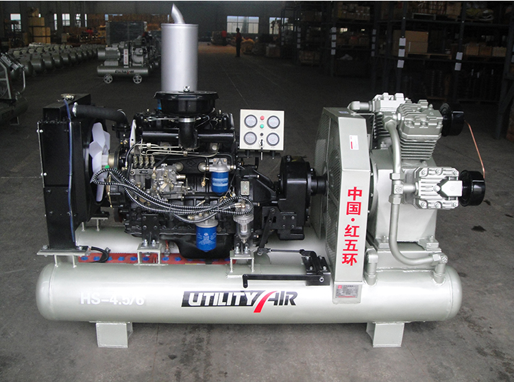 hs4.5 6c diesel mining air compressor description