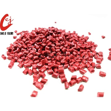Red Plastic Shell Masterbatch Granulat
