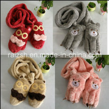 Gloves, Scarves Integrated Plush Women′s Long Scarves